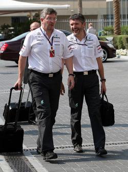 Ross Brawn Team Principal, Mercedes GP, Nick Fry, Chief Executive Officer, Mercedes GP