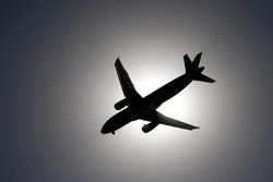 A plane coming into land