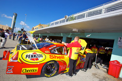 Richard Childress Racing Chevrolet team members prepare the car of Kevin Harvick