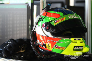 #55 The Bottle-O Race Team: Paul Dumbrell's helmet