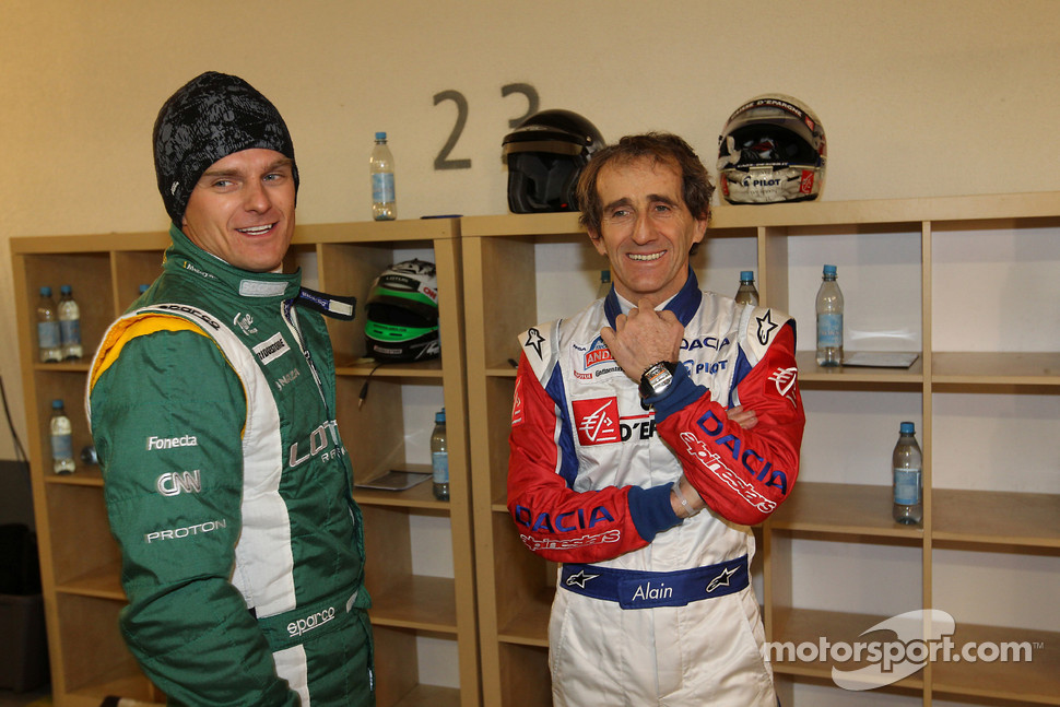 Heikki Kovalainen and Alain Prost