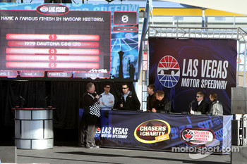 "Denny Hamlin, Kyle Busch, Carl Edwards, Clint Bowyer, Greg Biffle and Jeff Burton play ""The Family Feud"" game"