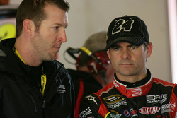 NASCAR-CUP: Jeff Gordon, Hendrick Motorsports Chevrolet and crew chief Alan Gustafson