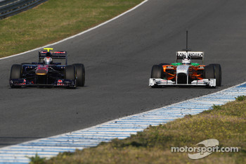 Jaime Alguersuari, Scuderia Toro Rosso, Adrian Sutil, Force India F1 Team