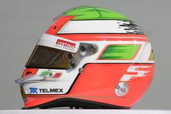 Sergio Perez, Sauber F1 helmet