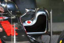 McLaren side pod detail