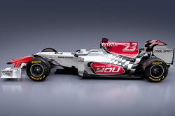 The new HRT Racing HRT F111 design for the 2011 F1 season