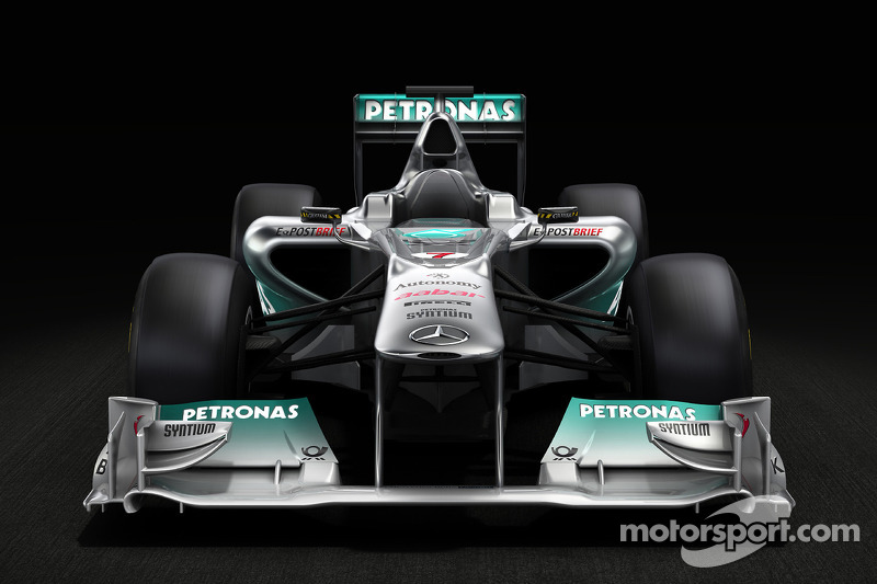 Mercedes GP F1 Team MGP W02 Pre Launch sneek preview