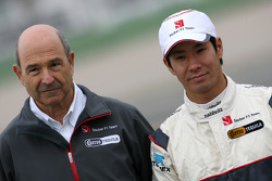 Peter Sauber, Sauber F1 Team, Team Owner and Kamui Kobayashi, BMW Sauber F1 Team