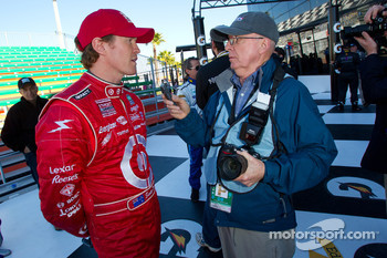 Rolex 24 At Daytona Champions photo: Scott Dixon interviewed by Motorsport.com's Joe Jennings
