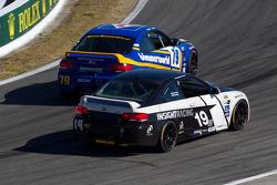 #79 BimmerWorld Racing BMW M3 Coupe: James Clay, Seth Thomas, #19 Insight Racing BMW M3 Coupe: Paul Gerrard, Martin Jensen