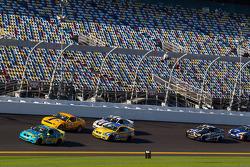 #13 Rum Bum Racing BMW M3 Coupe: Nick Longhi, Matt Plumb leads #15 Multimatic Motorsports Mustang Boss 302R: Joe Foster, Scott Maxwell on the last lap