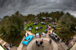 Overall view of the Concorso d'Eleganza on the Lawn at The Breakers