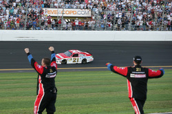 Wood Brothers Racing team members celebrate