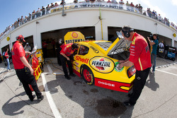 Penske Racing Dodge team members at work