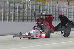 Shawn Langdon deploys his parachutes aboard his Lucas Oil Top Fuel Dragster
