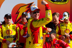 Victory lane: race winner Kurt Busch, Penske Racing Dodge celebrates