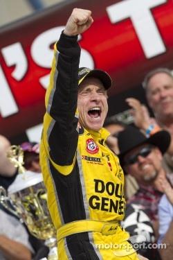 Victory lane: winner Mark Martin celebrates