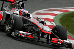 Jenson Button, McLaren Mercedes using a test front wing