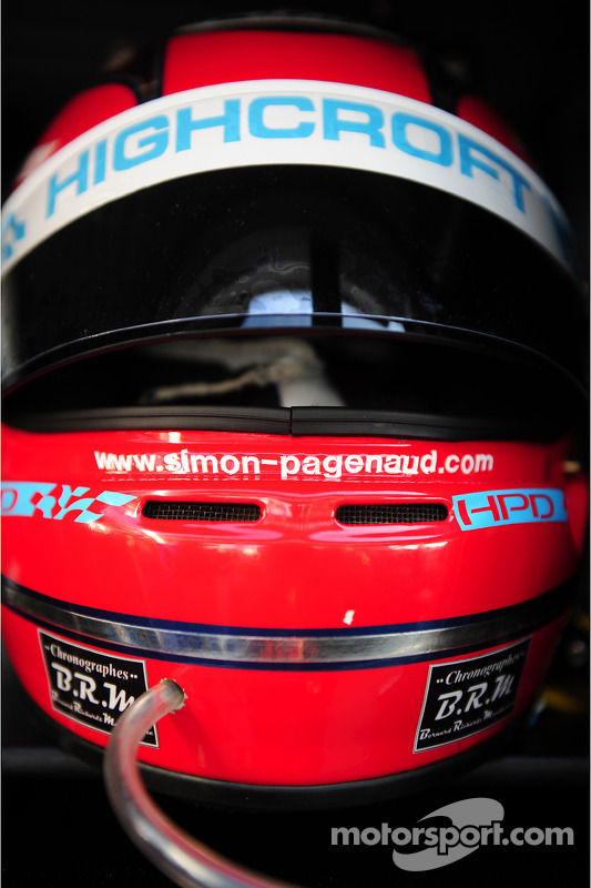 The helmet of Simon Pagenaud