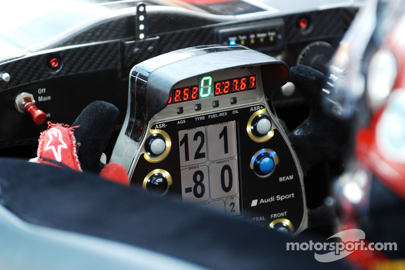 The Audi R15 Plus steering wheel