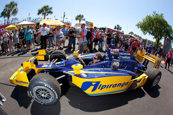 Car of Ana Beatriz, Dreyer & Reinbold Racing taken the pitlane
