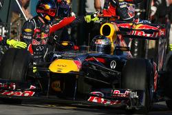Sebastian Vettel, Red Bull Racing pit stop
