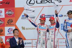 Podium GT500: second place #39 Team Sard Lexus RC F: Heikki Kovalainen, Kohei Hirate