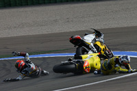 Moto2 Foto - L'incidente tra Mika Kallio, Marc VDS Racing Team e Maverick Viñales, Pons HP 40