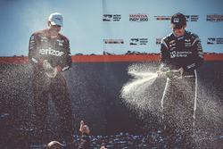 Race winner Simon Pagenaud, Team Penske Chevrolet, second place Will Power, Team Penske Chevrolet