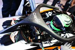 Nico Hulkenberg, Sahara Force India F1 VJM09 running the Halo cockpit cover