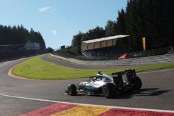 Nico Rosberg, Mercedes AMG F1 W07 Hybrid mit dem  Halo Cockpitschutz