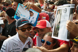 Felipe Massa, Williams, mit Fans