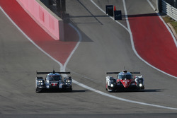 #2 Porsche Team, Porsche 919 Hybrid: Romain Dumas, Neel Jani, Marc Lieb; #5 Toyota Racing, Toyota TS050 Hybrid: Sébastien Buemi, Kazuki Nakajima, Anthony Davidson