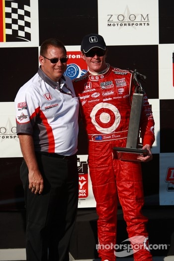 Podium: second place Scott Dixon, Target Chip Ganassi Racing