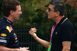 Christian Horner, Red Bull Racing, Sporting Director and Enrico Zanarini, Manager of Vitantonio Liuzzi