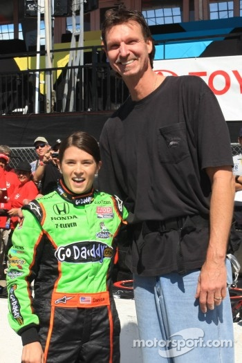 Baseball great Randy Johnson with Danica Patrick, Andretti Autosport