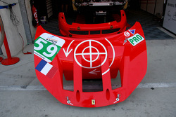 Front nose of the #59 Luxury Racing Ferrari 458 Italia