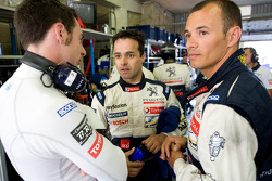 Simon Pagenaud, Pedro Lamy and Stéphane Sarrazin