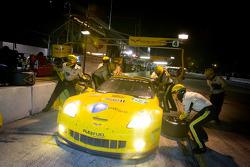 Pit stop for #04 Corvette Racing Chevrolet Corvette C6 ZR1: Oliver Gavin, Jan Magnussen, Richard Westbrook