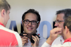 Laurent Fedacou, race engineer of Rahel Frey, Audi Sport Team Phoenix, Audi A4 DTM