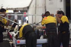 Dale Coyne Racing crew members at work