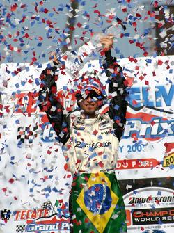 Podium: race winner Bruno Junqueira celebrates