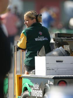 Team Australia Racing crew member