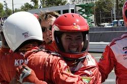 Team PKV celebrates the race victory