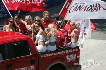 The Molson Canadian Team Red hockey players
