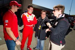 Ryan Dalziel and pole winner #22 Ferrari of Ft. Lauderdale Ferrari 458 Challenge: Enzo Potolicchio