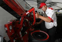 Bridgestone crew member at work