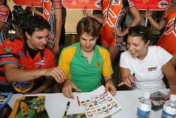 Andrew Ranger, Will Power and Katherine Legge