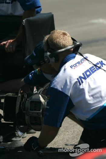 Forsythe Racing crew member at work